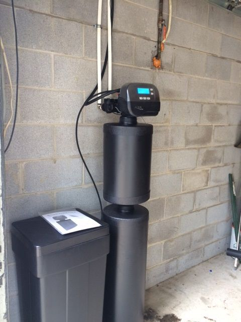 iron filter well water water softener