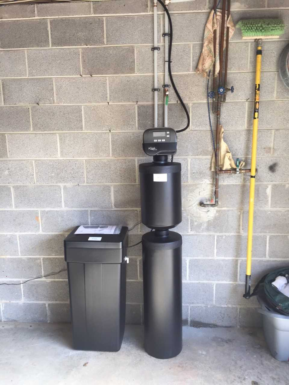Water filtration system in garage